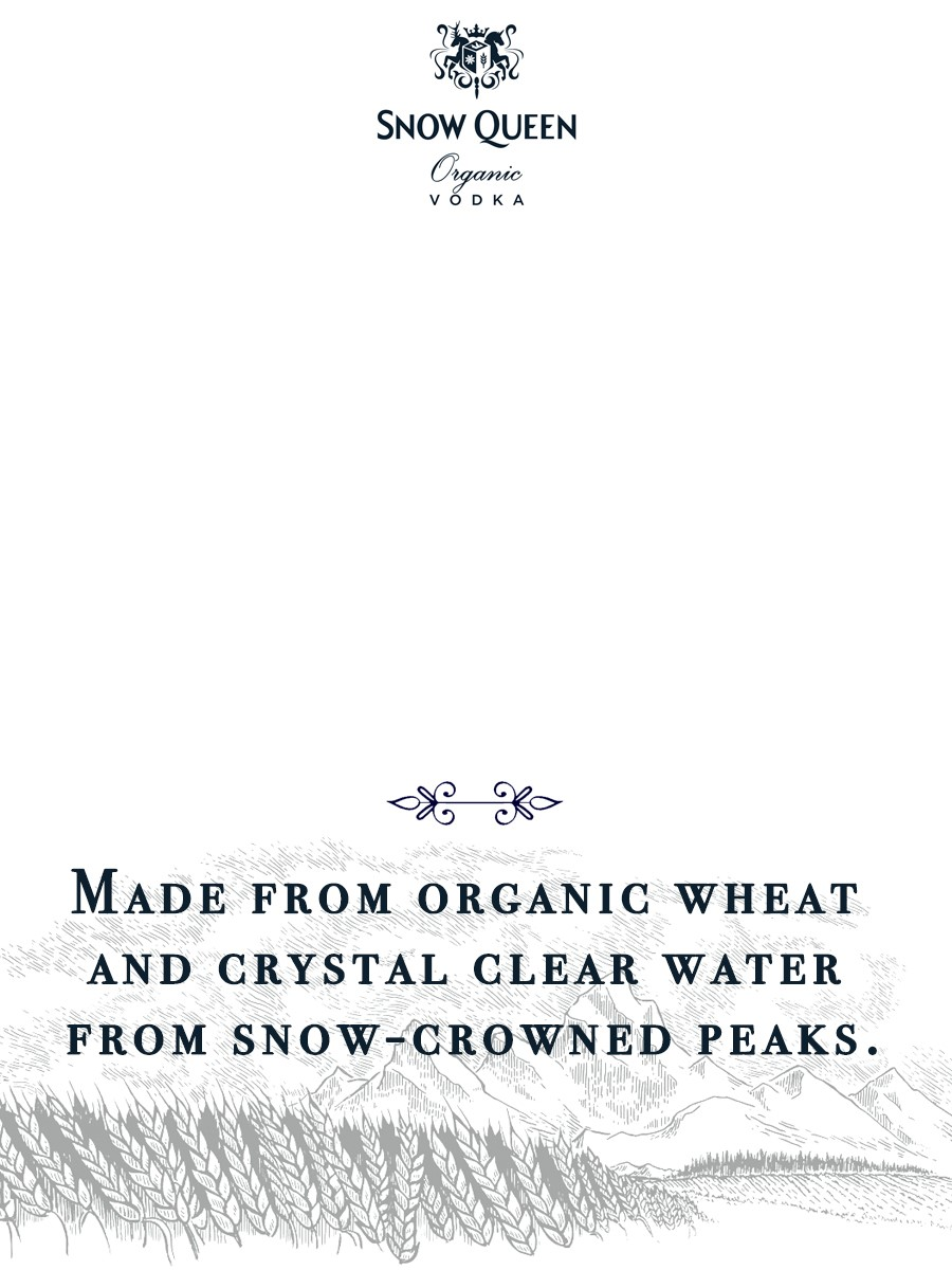Snow Queen - Made from organic wheat and crystal clear water from snow-crowned peaks.