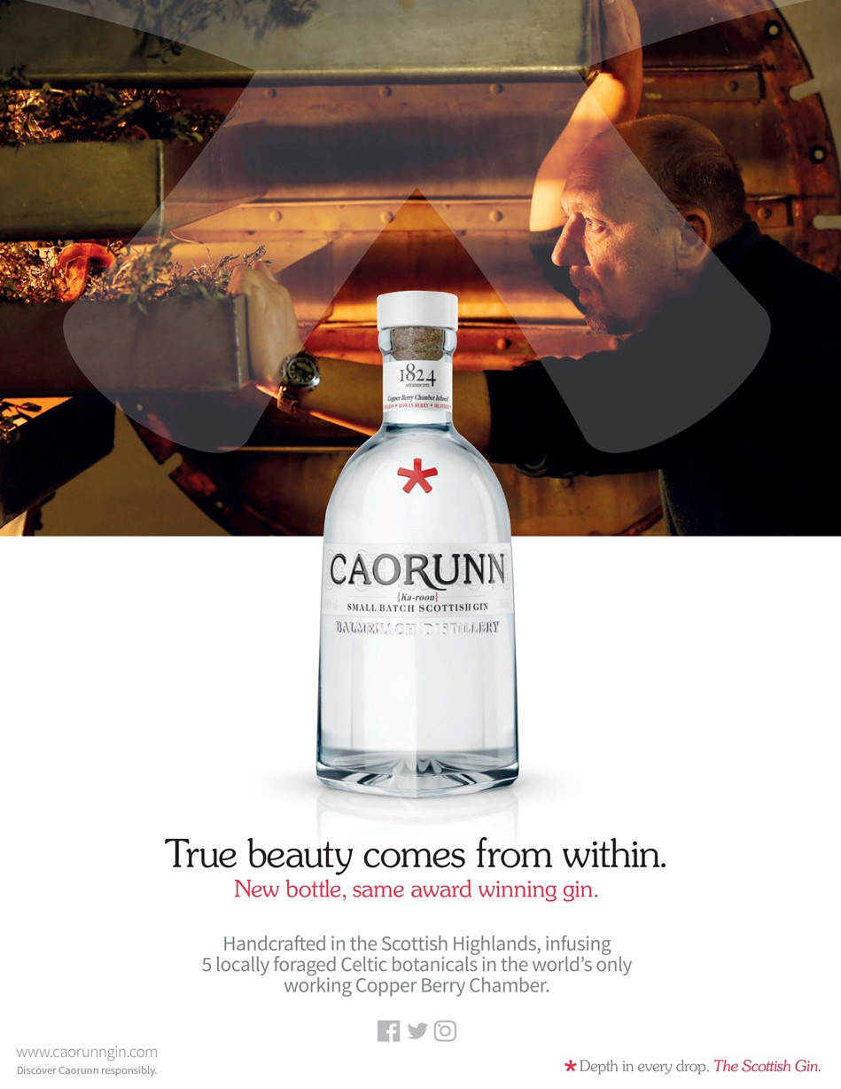 Caourunn small batch scottish gin image